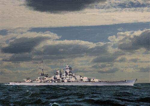 Dkm Scharnhorst-Ártico convoyes Segunda Guerra Mundial-Edición Limitada Arte 25