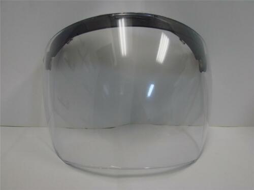 Moped Scooter Motorcycle Helmet Face Flip Shield Visor 3 Snap buckle