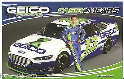 2016 CASEY MEARS #13 GEICO MILITARY CAMO NASCAR POSTCARD