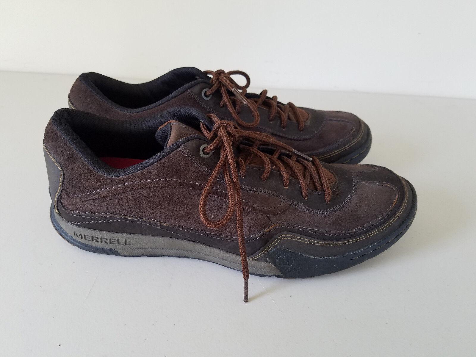 44855bdb1de Merrell Mountain Diggs Dark Earth Earth Earth Leather Shoes Men s 44 US Shoe  Size 10 J39465 53ee2a
