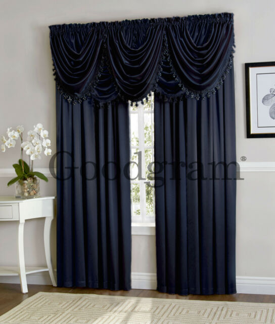 Hilton Window Curtain & Valance Treatments Available In Many Colors