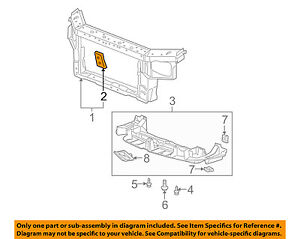 s l300 buick gm oem 05 09 lacrosse radiator support mount plate right