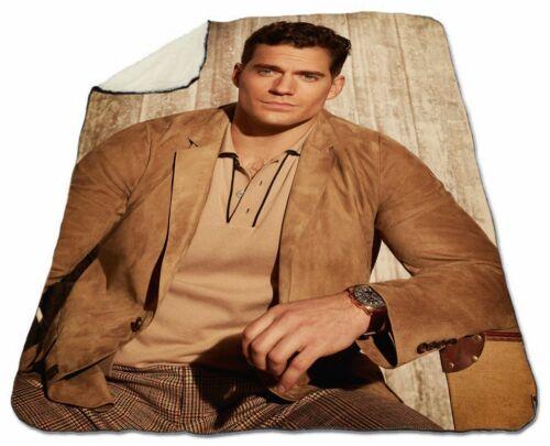 """Henry Cavill Winter Blanket 60/"""" x 80/"""" Queen Size NEW Fleece Christmas Warm Cozy"""