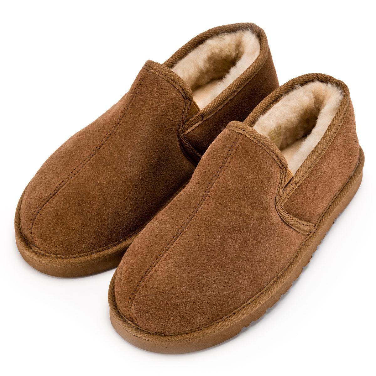 Herren Soft Sole Chestnut Sheepskin Slipper Boot  - British  Boot Herren Sheepskin Slippers aa4d33