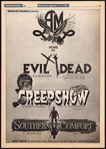 EVIL-DEAD-CREEPSHOW-Original-1982-Trade-AD-poster-A-M-Films-French-promo