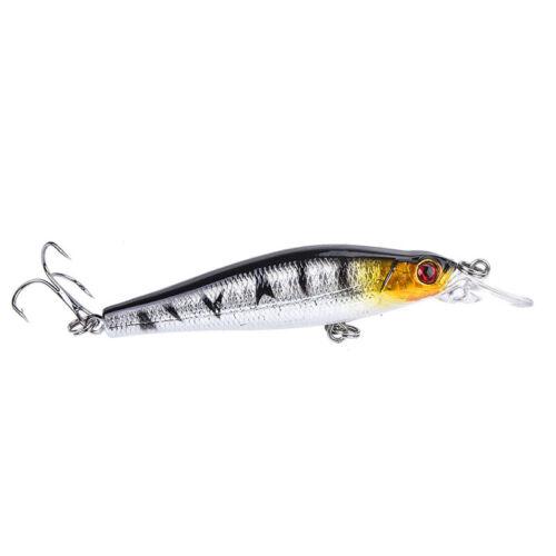 9g//8cm fishing lures baits floating metal crankbaits popper hard lures hooks  X