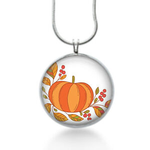 Cute-thanksgiving-necklace-with-a-orange-pumpkin-and-fall-leaves-holiday-gifts