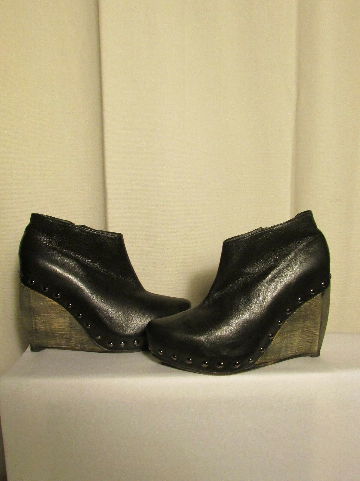 Keilstiefel Keilstiefel Keilstiefel Eine Step schwarzes Leder 40 d79cb0