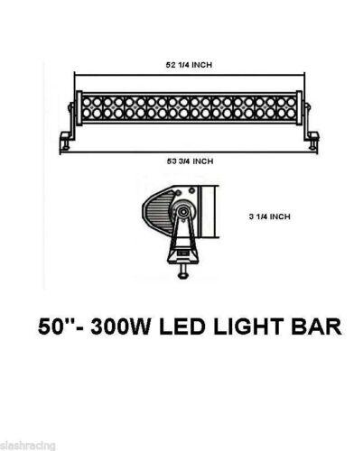 "50/"" 288W Work LED Light Bar Fog Driving DRL Spot Flood Combo Offroad SUV"