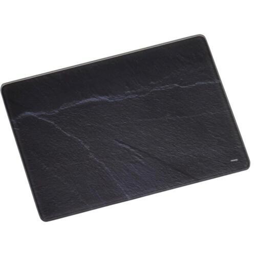 Kesper Schieferoptik schwarz grau Schneidebrett 40x30cm Platte aus Glas