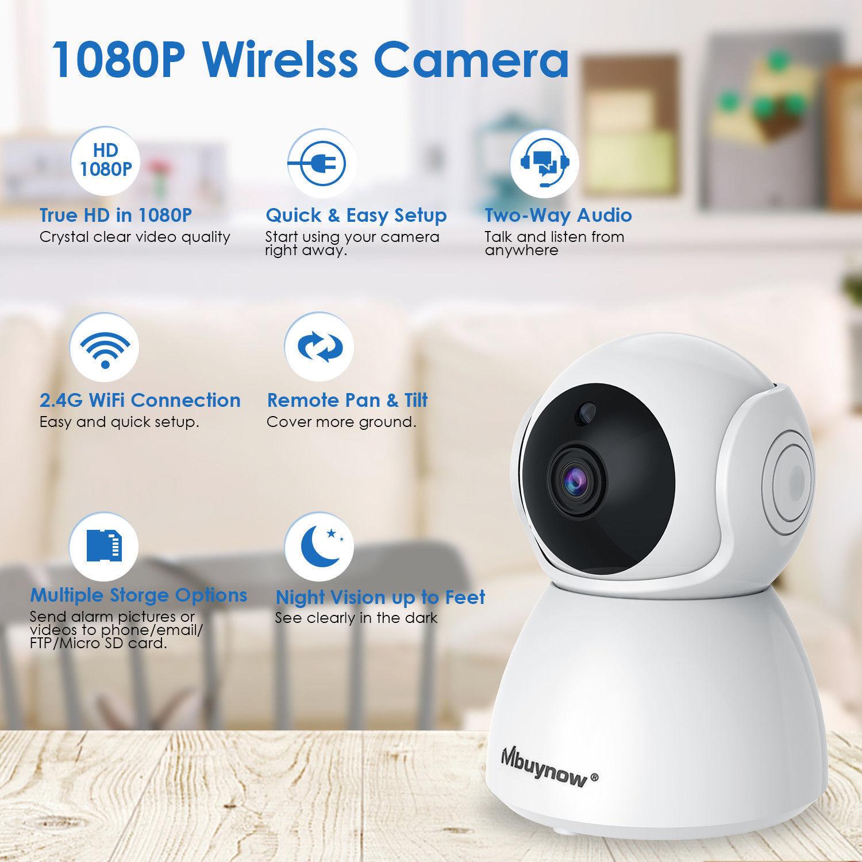 WLAN IP Überwachungskamera 1080P Kamera Funk WIFI Webcam Nachtsicht Babyphone DE