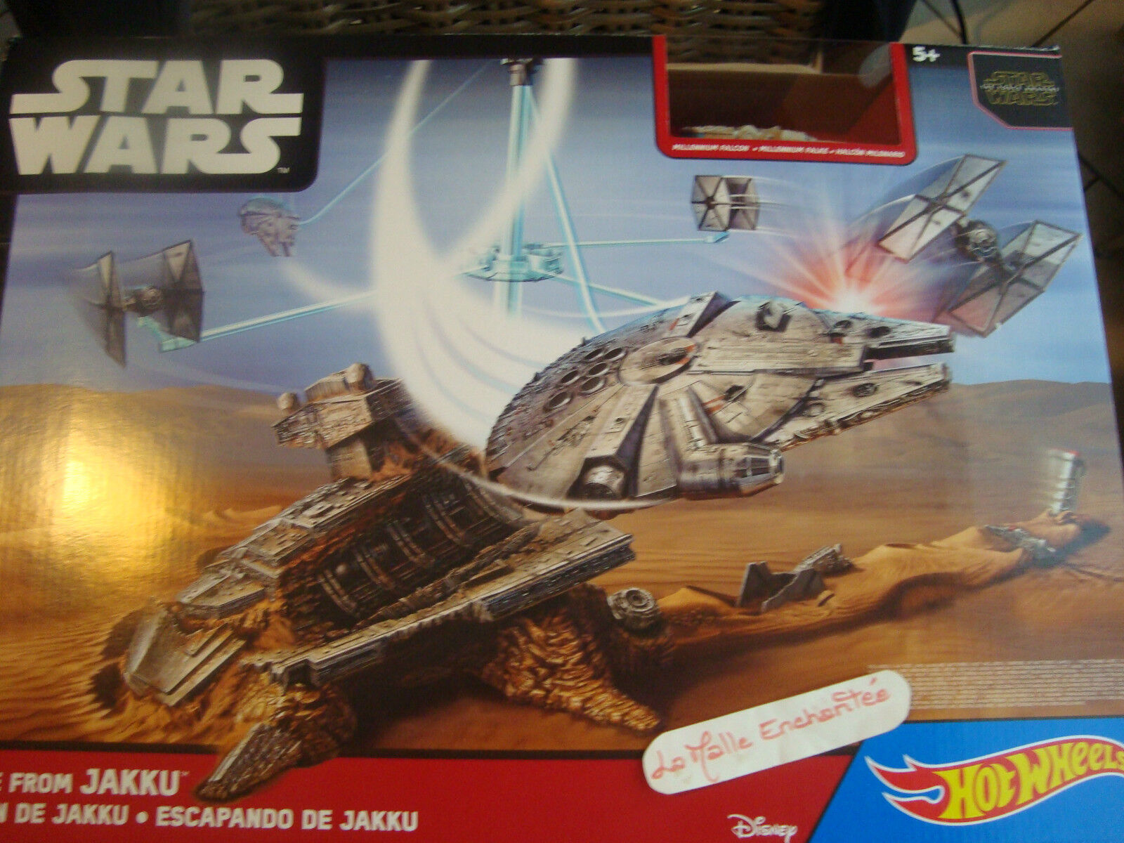 Playset Star Wars Hot Wheels  Escape of Jakku Esacape from Jaccu Nib
