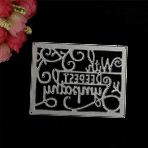 """Cutting Dies Craft DIY decoration Holiday greetings /""""with deepest sympathyMAEK"""