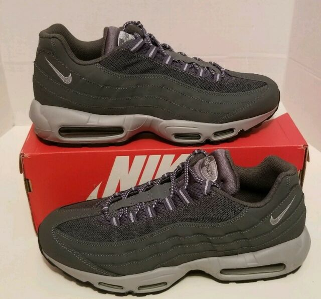 Nike Air Max 95 Dark Wolf Grey Black Mens Size 11.5 609048 088 A16