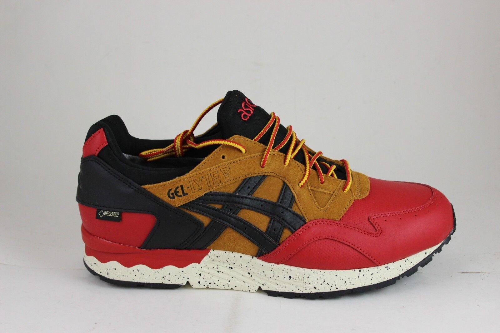 Men's Asics Gel Lyte V G-TX Red Black HL6E2 2590 Brand New in Box Suede Mesh