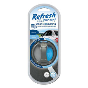 Refresh-Scented-Oil-Diffuser-Car-Vent-Air-Freshener-New-Car-Cool-Breeze