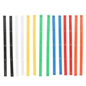 Outdoor-2pcs-Rib-Strip-Skateboard-Rails-With-10-Mount-Screws-Part-Longboard