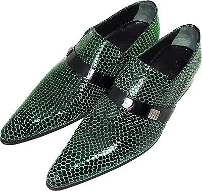 100% Chelsy - Italiano Designer Party Slipper Design A Rete Nero Verde 43