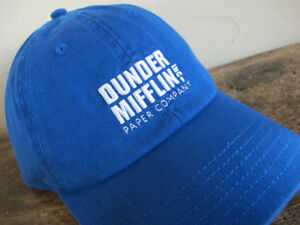 b597166b61459 Authentic NBC The Office DUNDER MIFFLIN blue Dad Hat Cap dwight tv ...