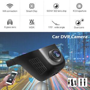 Camara-oculta-WiFi-1080P-coche-DVR-grabadora-video-frontal-trasero-Dash-G-sensor