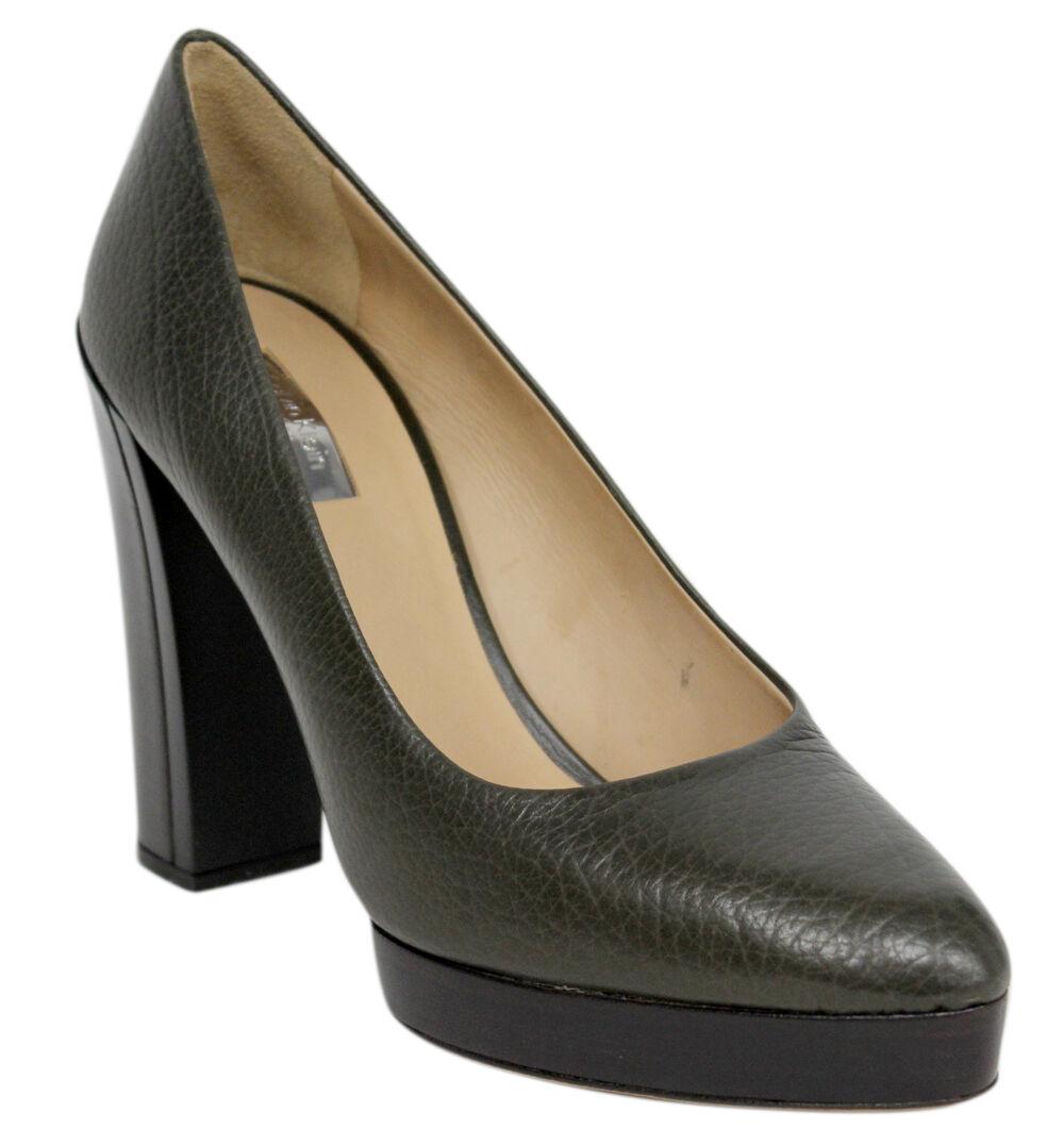 Calvin Klein DAYANA Caído Pantorrilla Mujer Tacón Alto Zapatos SIN CIERRES j3080
