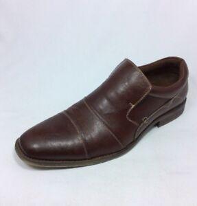5bc4b7c5110 Image is loading STEVE-MADDEN-Jaaggg-men-shoe-brown-leather-slip-