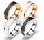 Anello-Uomo-Donna-Acciaio-Inox-Argento-Oro-Fedine-Fedina-Fidanzamento-Fascia miniatura 1