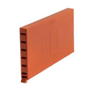 5 x Terracotta Brick Weep Vents / Ventilation Cavity Walls Retaining Garden Wall 700254115566