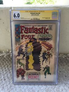 Fantastic-Four-67-Marvel-1967-CGC-6-0-SS-Stan-Lee-1st-App-Of-Him-HOT