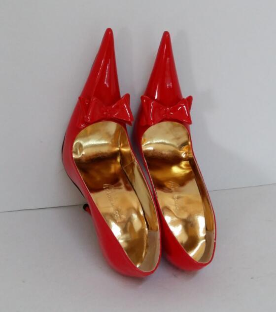 Mujer 16cm Bomba Con Moño De De De Puntera Puntiaguda Puntera puntiaguda Sexy Tacón Alto Zapatos UK 35-48  diseño simple y generoso