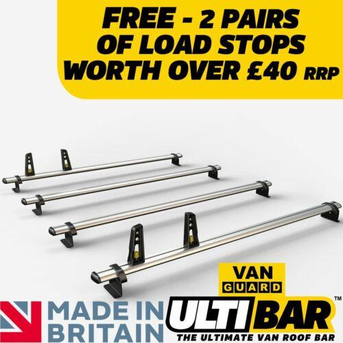 VW Crafter Roof Rack 2006-2016 4x Roof Bars Van Guard ULTI Bar
