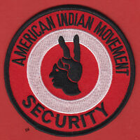 Aim American Indian Movement Security Patch.