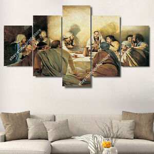 Image Is Loading Christ Amp Apostles Painting Wall Art Canvas