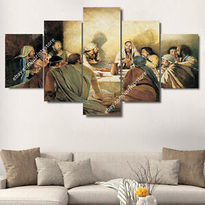 Jesus Wall Art jesus christ & apostles painting wall art canvas print christian