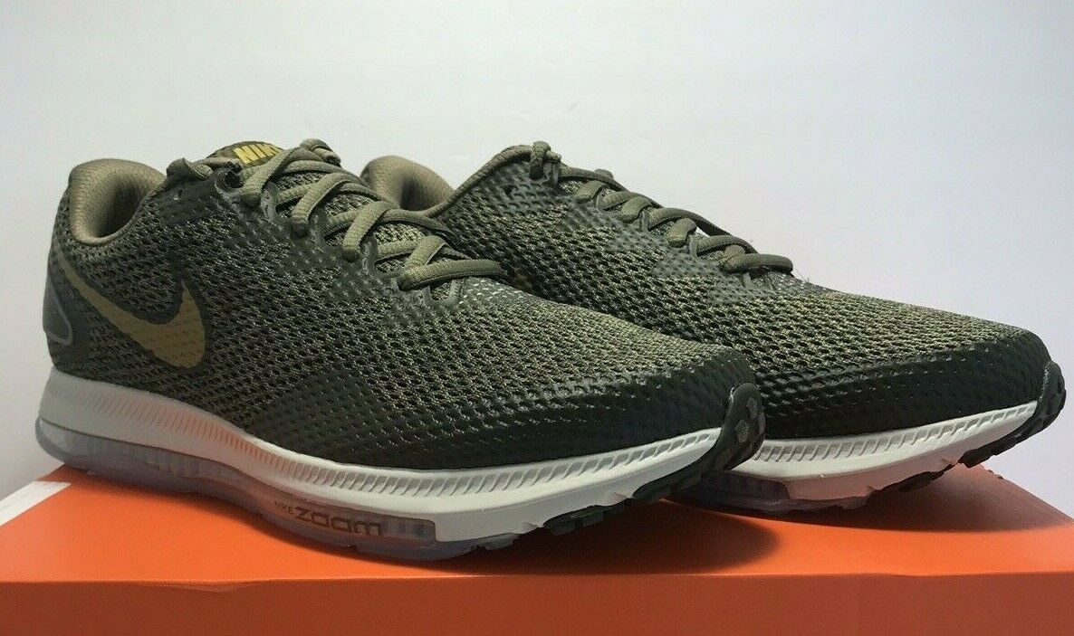 Nike Mens Size 9.5  Zoom All Out Low 2 Olive Green Running shoes AJ0035-201