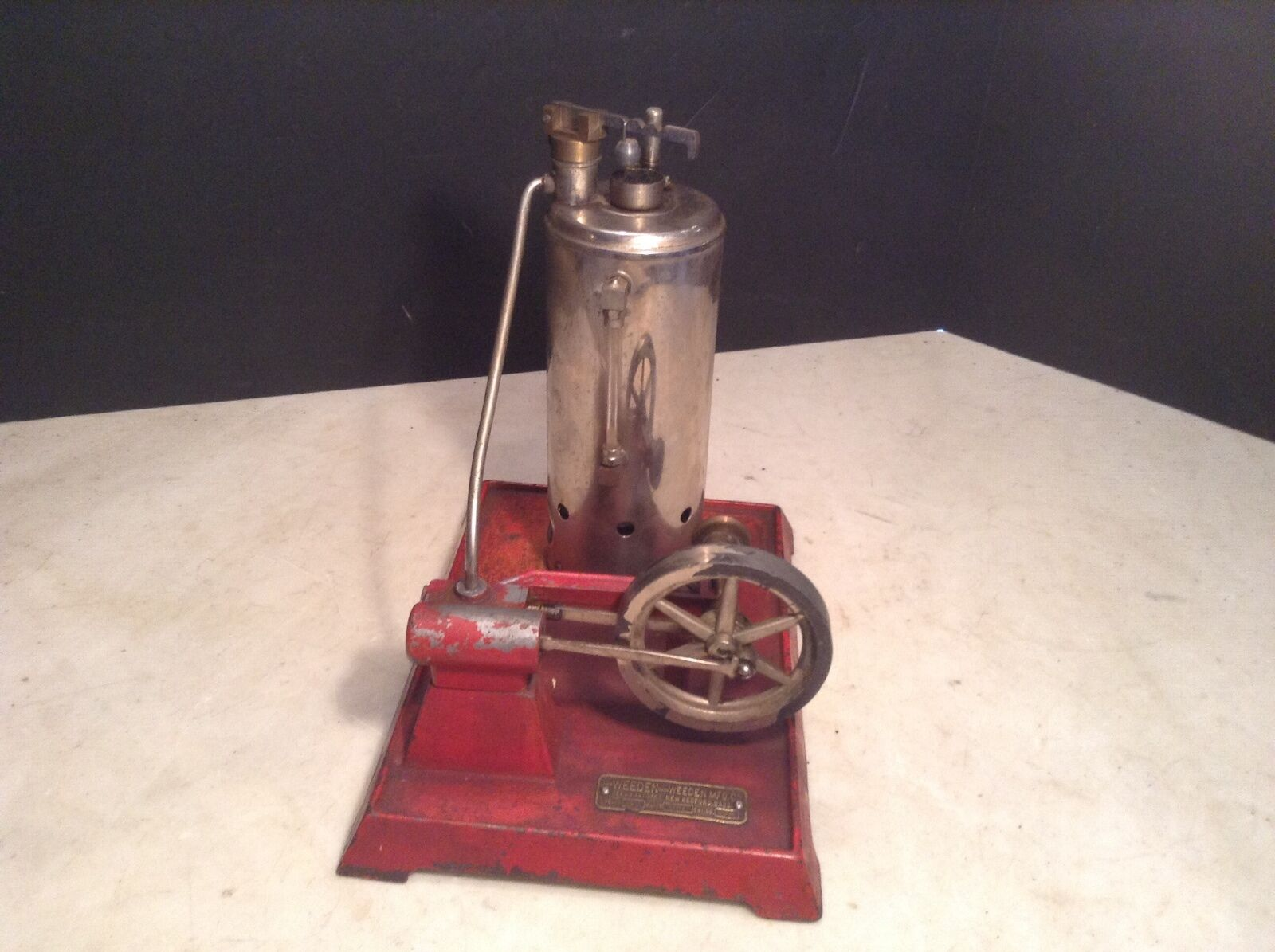 Antique Weeden Electric Steam Engine Toy Cat No. 672