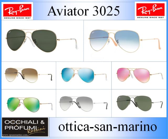 OCCHIALI DA SOLE RAY BAN 3025 AVIATOR. (NUOVO) ORIGINALE AL 100%.AGGIORNATO 2018