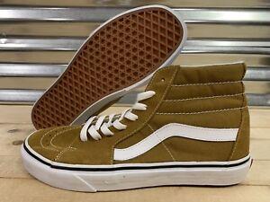 8ce9137b88 Vans Sk8 Hi Canvas Skateboarding Shoes Cumin Brown True White SZ 9 ...