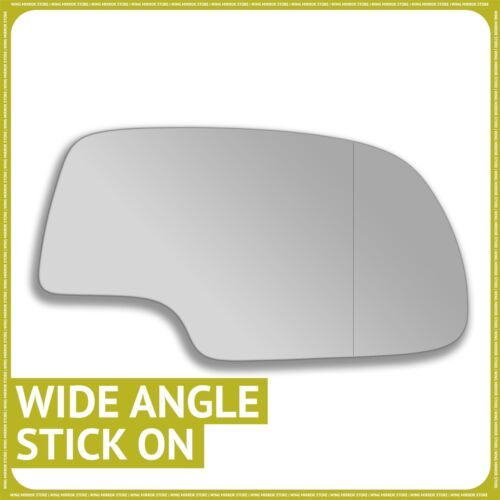 Right hand Driver side for Cadillac Escalade 02-06 wing mirror glass Wide Angle