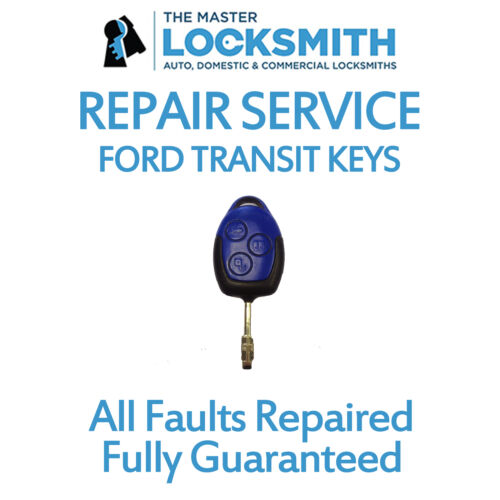 Repair Service For All Ford Transit Blue Remote Keys 2006-2014 **New Case**