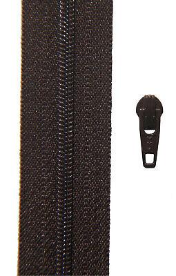 Gp 2,00 €// m 2 Meter Reißverschluss hell grau Spirale 3 mm 2 Zipper YKK