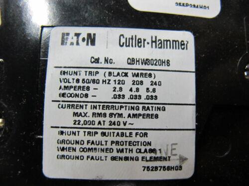 Cutler Hammer QBHW3020HS 20 Amp Circuit Breaker w//Shunt Trip,NEW