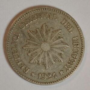 URUGUAY 1924 2 centesimos  KM#20  R1201