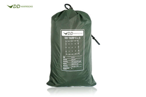 Rain Fly** Basha DD Tarp 5x5 Olive Green **Lightweight Camping Group Shelter