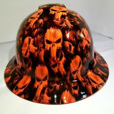 Hard Hat Full Brim Custom Hydro Dipped Osha Approved Outrageous Orange Punisher