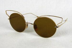 4c3b84892e4e Dita Believer Sunglasses 23008-B 12K Gold Round Flash Mirror Lens ...