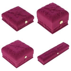4x-Violet-Pendentif-Anneau-Bracelet-Bracelet-Collier-Organisateur-de-Bijoux