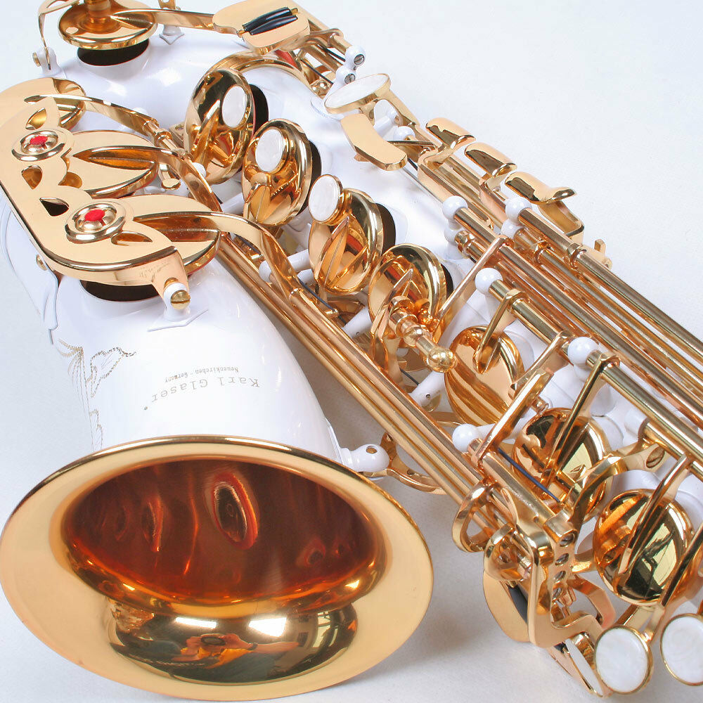 Karl Glaser Alt Saxophon weiß Gold + Koffer, Neu+OVP