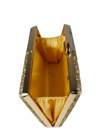 New UK Women/'s Half Glitter Half Patent Wedding//Party//Prom Clutch Evening Bag
