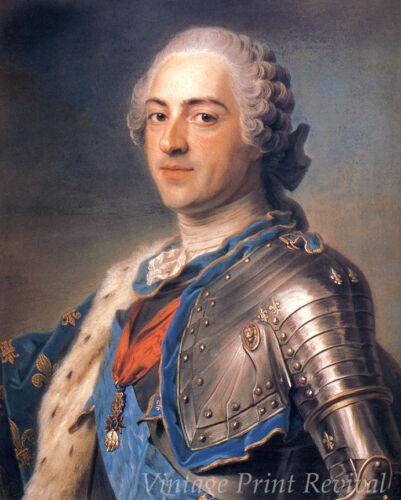 Monarch of France  8x10 Print 1251 King Louis XV by Maurice-Quentin De La Tour